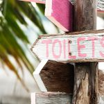 All Good in the Wood Glamping - Royalty free Toilet image