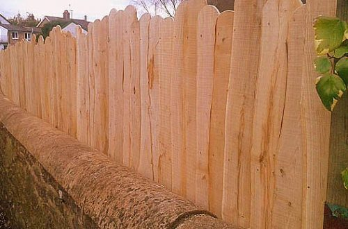 All Good in the Wood projects Sweet Chestnut fencing