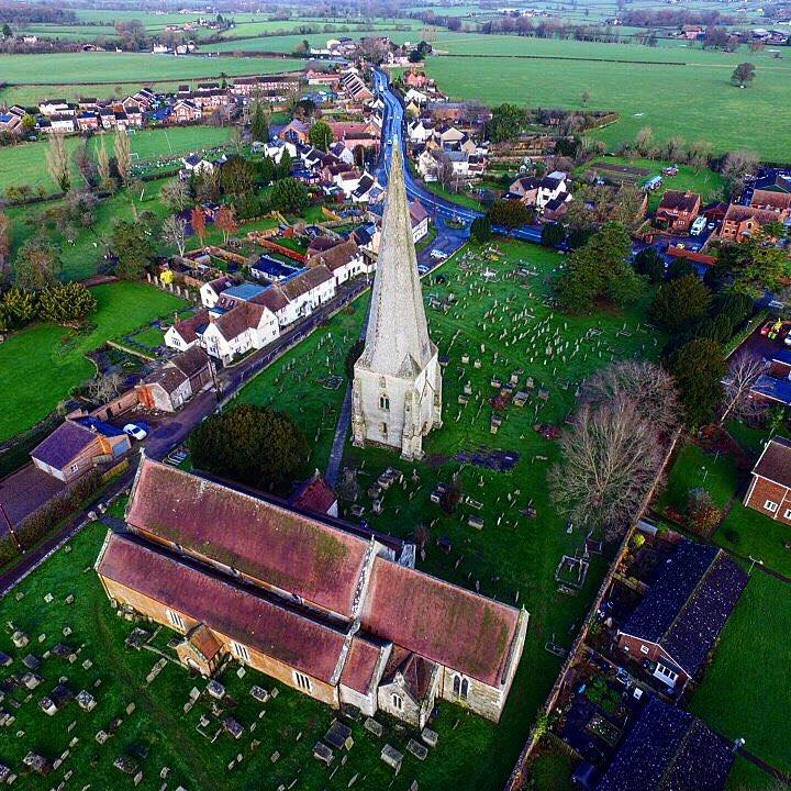 All Good in the Wood oak shingles on Westbury church spire restoration