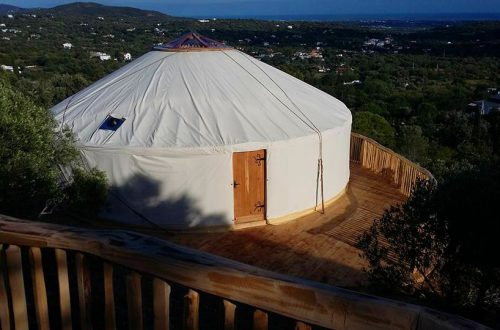 All Good in the wood Glamping Yurt outside Portugal creations