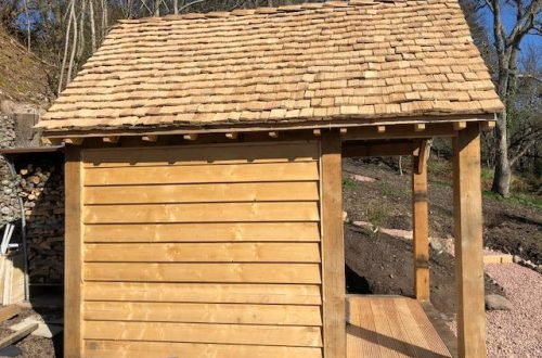 All Good in the Wood - handmade (hand clefted) Oak shingles