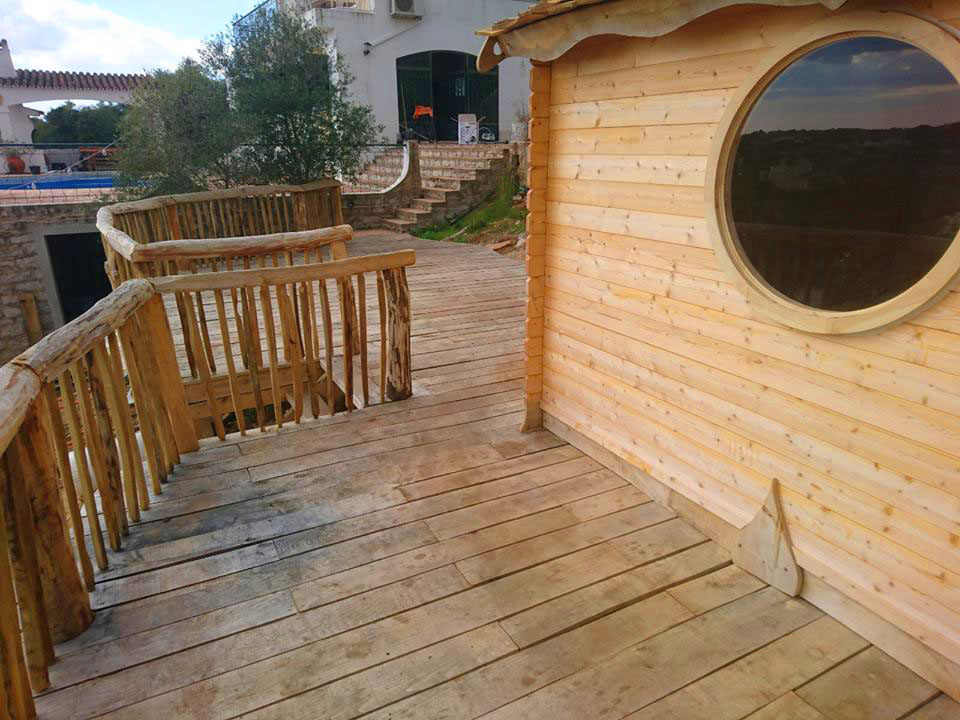 All Good in the Wood hardwood decking sweet chestnut