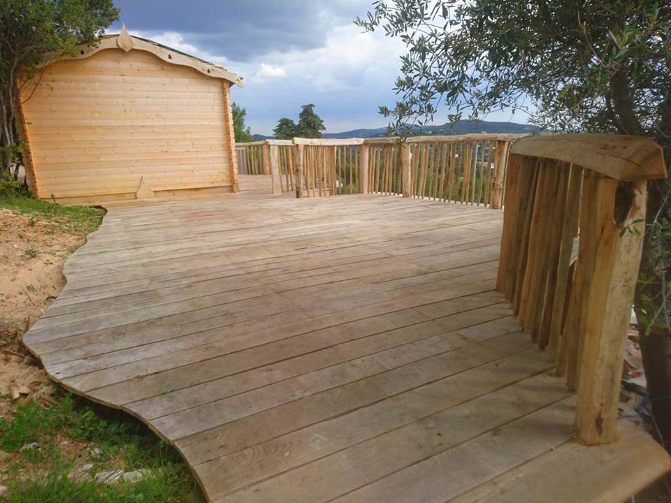 All Good in the Wood hardwood sweet chestnut decking